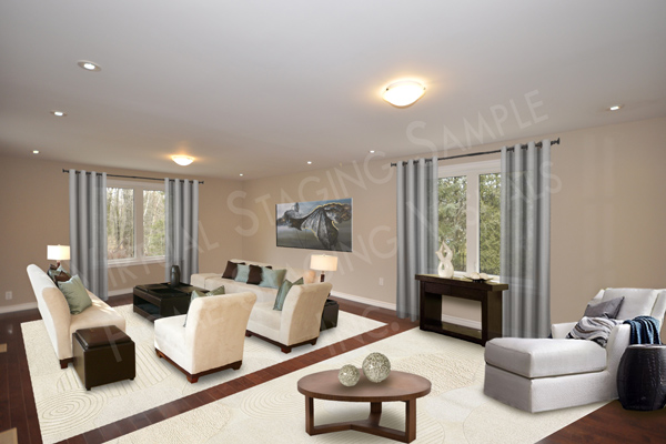 Toronto Virtual Home Staging Living Room 2b