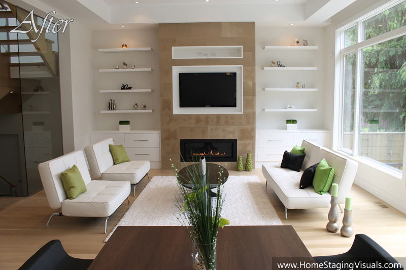 Beautifully modern in north york for Home staging before and after