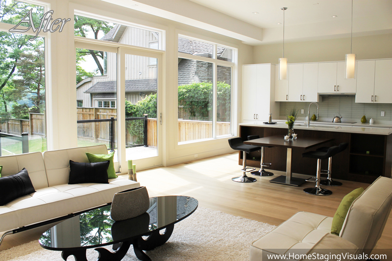 Beautifully modern in north york for Staged houses before and after