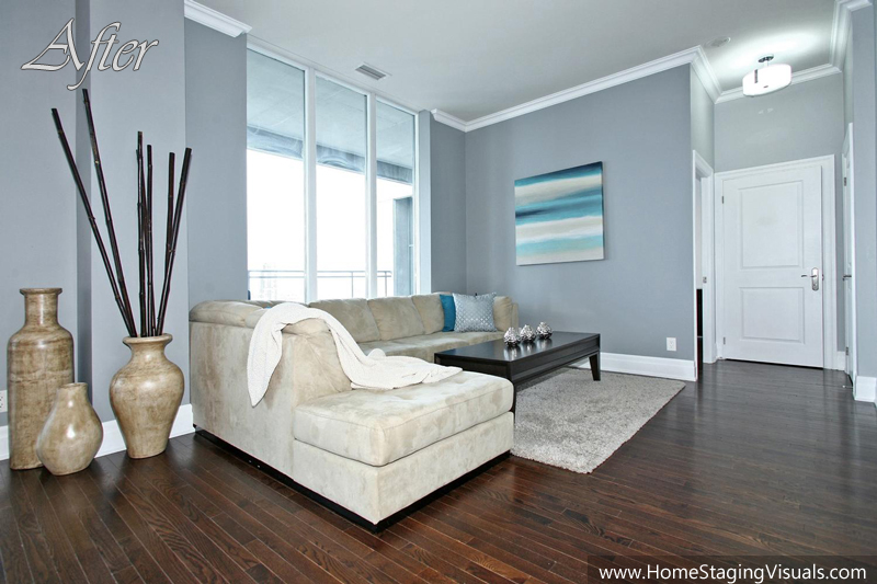 Toronto lake shore luxury for Home staging before and after